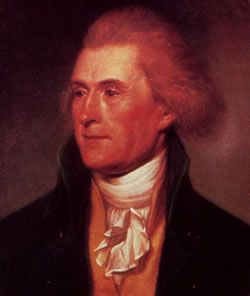 Image of Thomas Jefferson by Charles Wilson Peale, 1791.