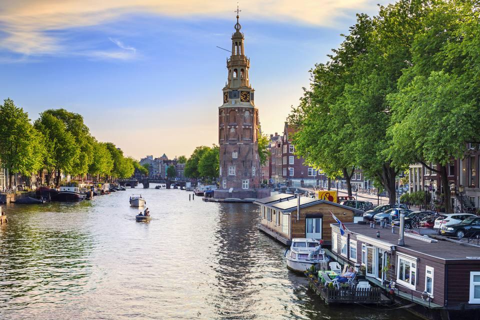 Amsterdam by river.