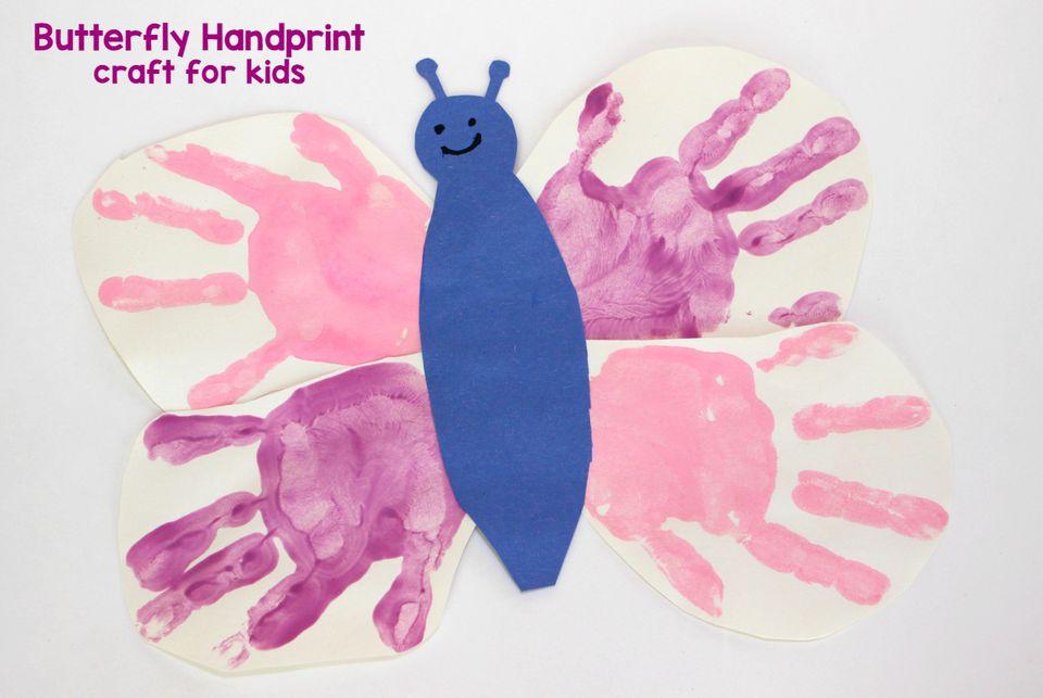 Butterfly Handprint Craft for Kids