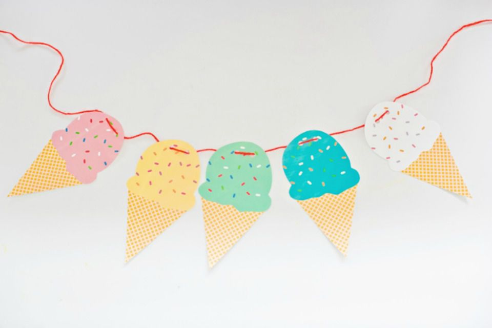 Printable Ice Cream Garland