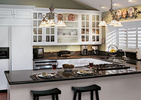increase kitchens ambient light with white cabinets