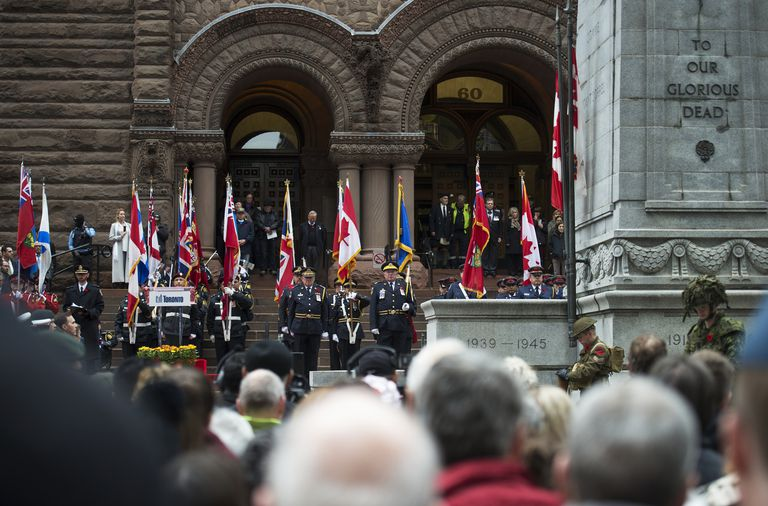 'Remembrance day service, Old City Hall'