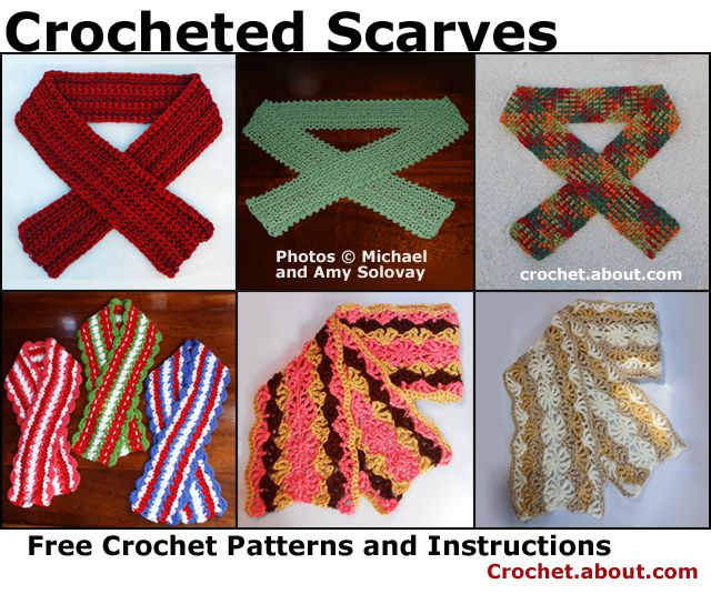 Crocheted Scarves -- The Crochet Patterns for These Scarves Are Available for Free on Our Website