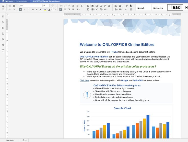 Screenshot of ONLYOFFICE Personal