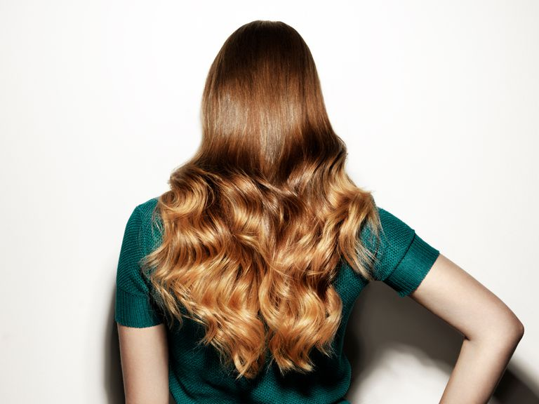 Back of woman with long hair