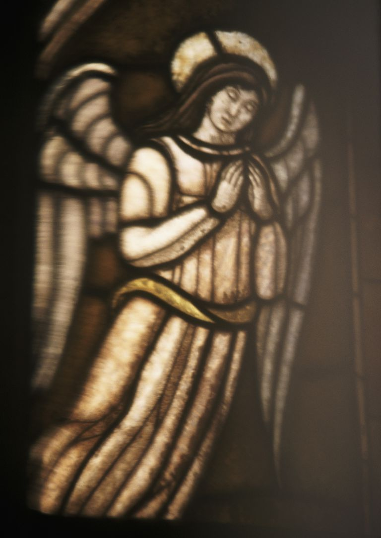 Picture representing an angel, full length