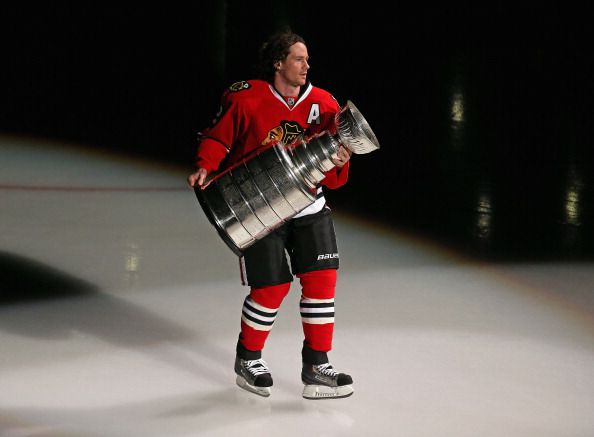 Player with the Stanley Cup