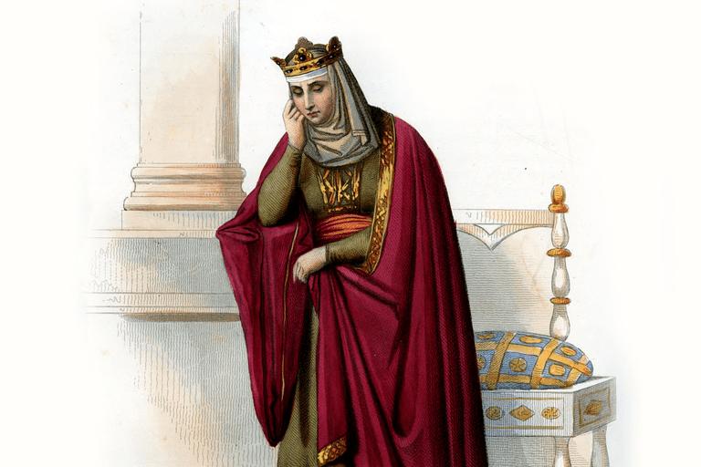 Brunhilde (Brunehaut), engraving by Gaitte
