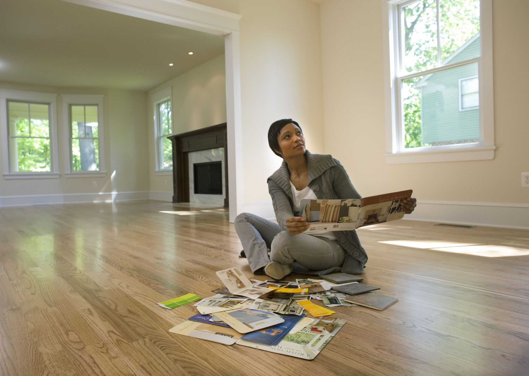 hardwood living room. Picture of Evaluating Rental Property The Best Flooring Options for