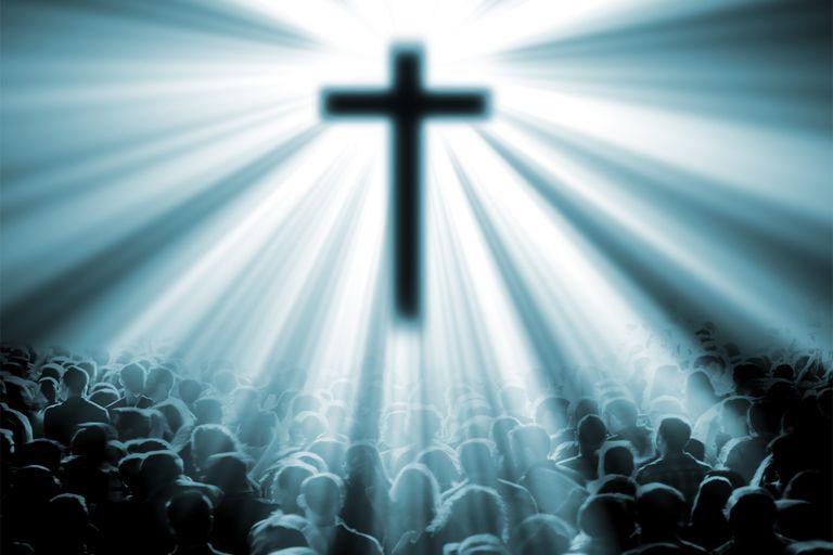 Cross shining on all people - universalism