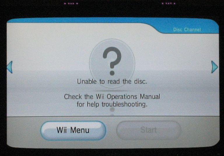 Wii Disk Error