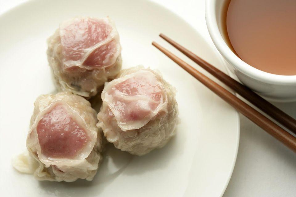 Three Steamed meat balls