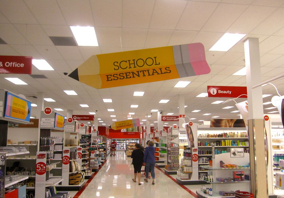 Back to school shopping at Canadian Target