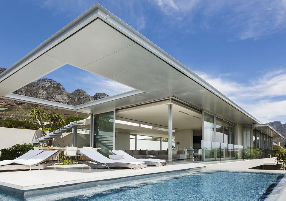 Modern Pool In Desert