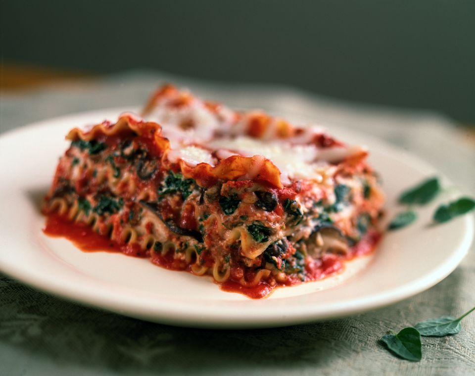 easy low calorie spinach lasagna recipe