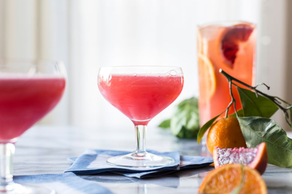 Sparkling Blood Orange Punch for a Winter Party