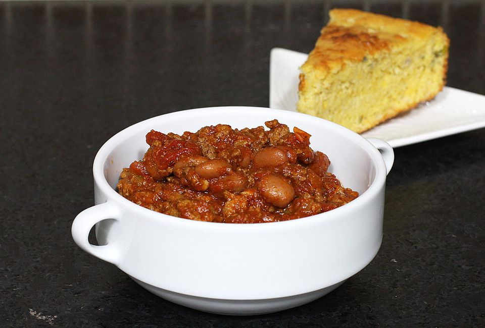 Beefy Chili with Pinto Beans