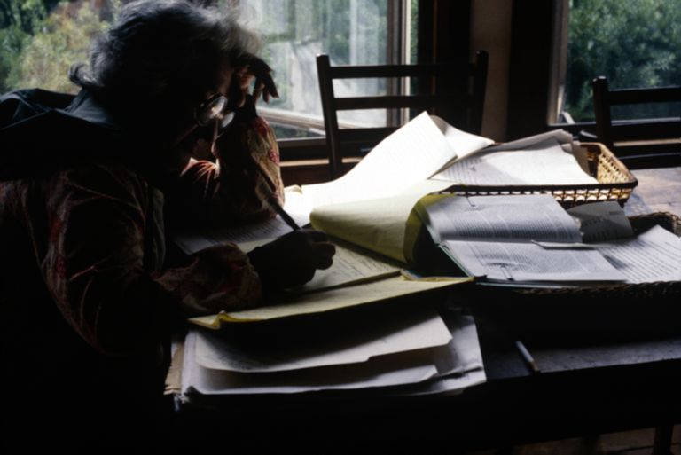 Betty Friedan at work