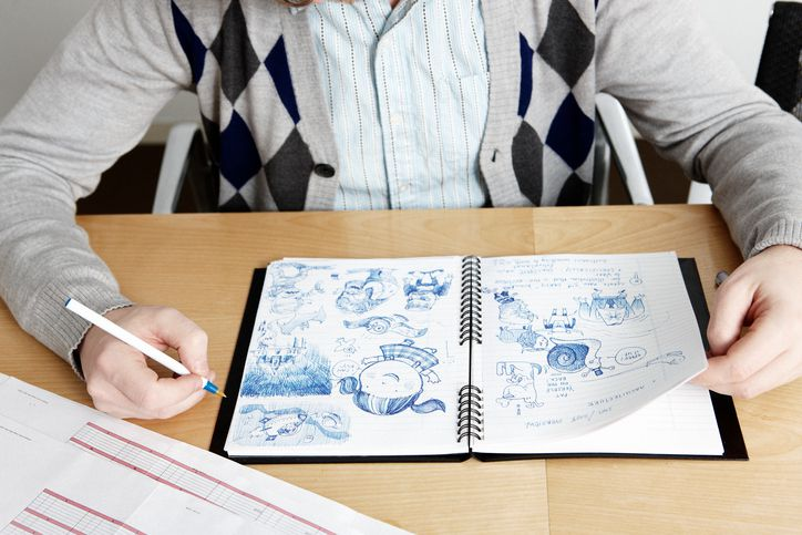 Doodling at work