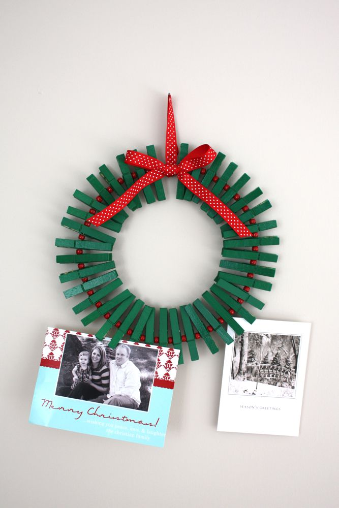 DIY Card Wreath