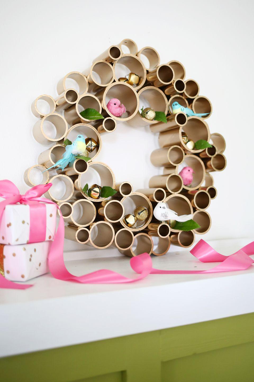 DIY PVC Pipe Wreath