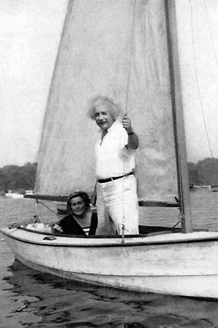 Albert Einstein sailing