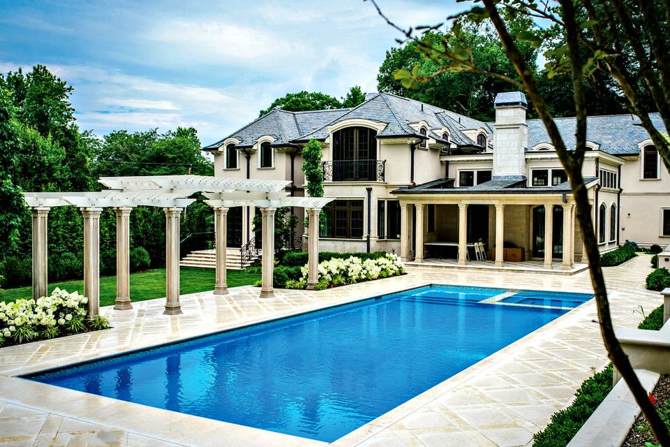 Rectangular pool designs and shapes for Pool design inc bordentown nj