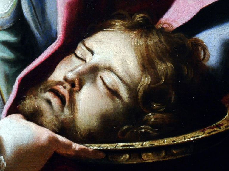 Detail of Salome holding the Baptist's head