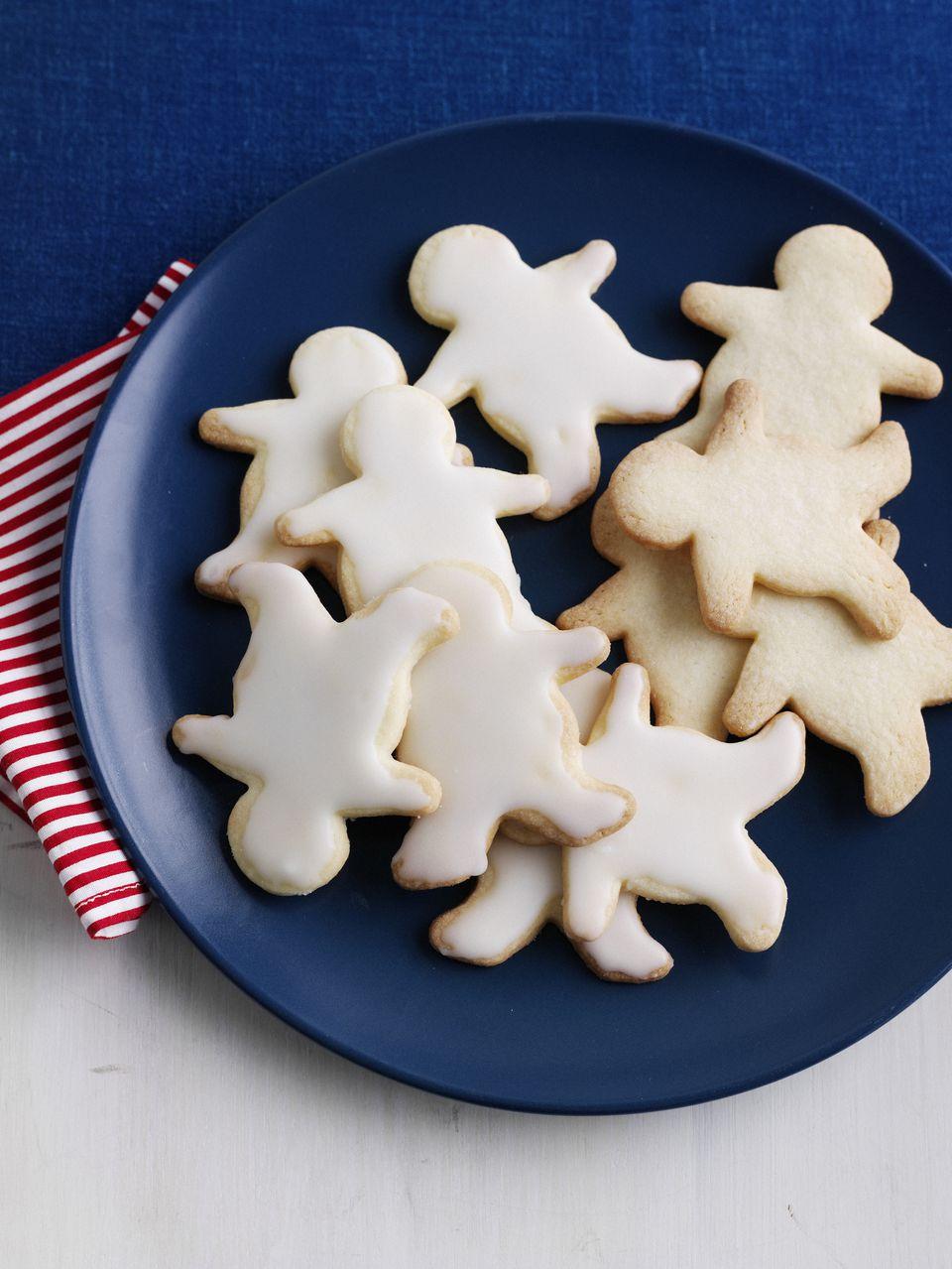 Plate of decorative sugar cookies