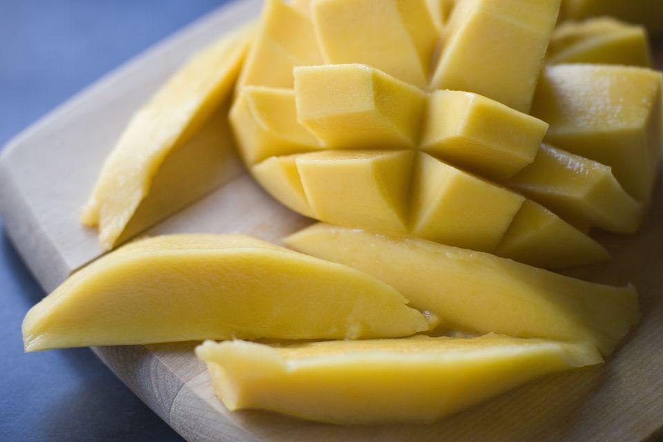Mango sliced and peeled