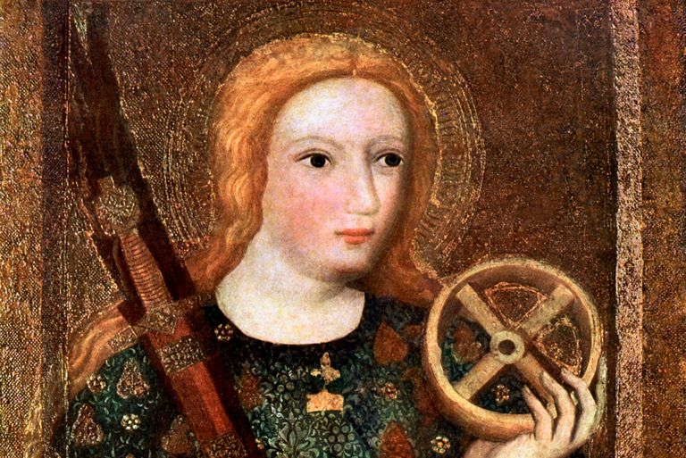 St Catherine, in 14th century painting by Master Theodoric