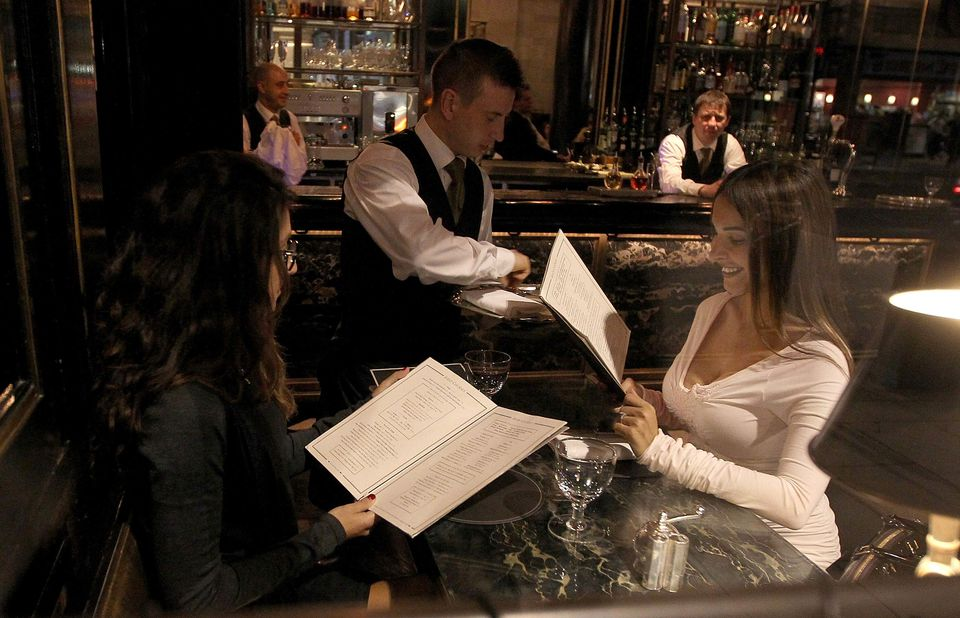 Mayra Veronica is seen eating at The Wolseley with her stylist on July 16, 2012