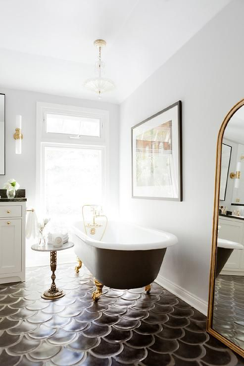 clawfoot tub bathroom designs. glamorous gold clawfoot tub  Rosa Beltran Design 10 Beautiful Bathrooms With Clawfoot Tubs