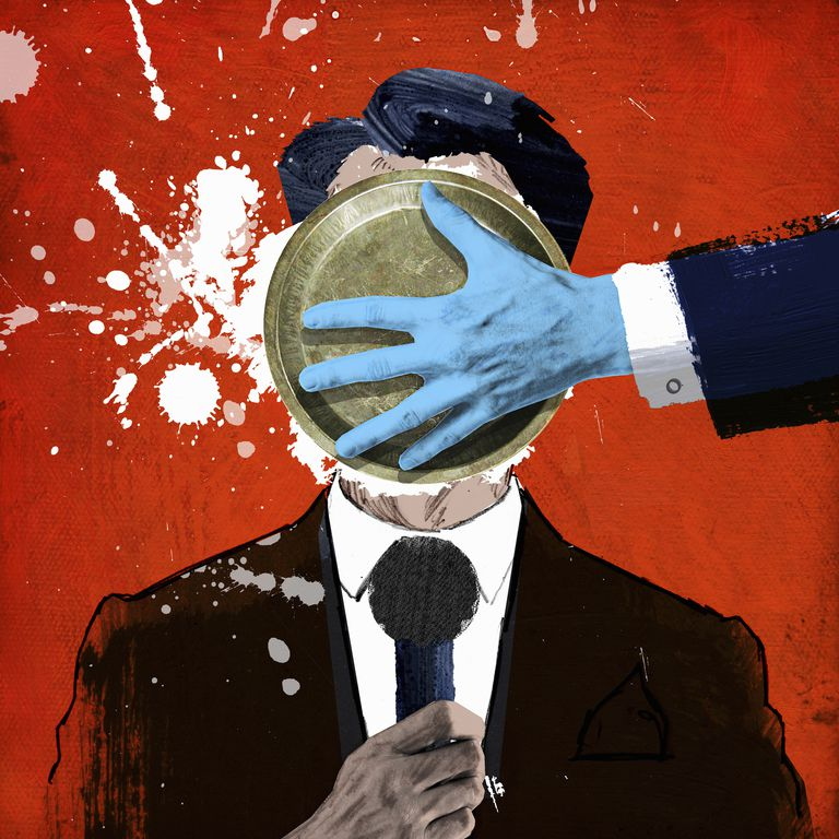 Politician getting a pie in the face