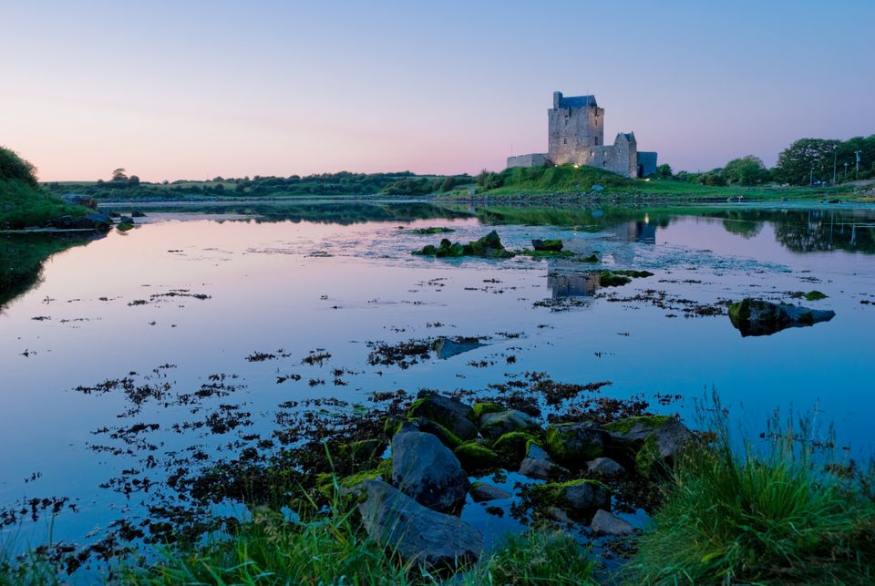 Dunguaire Castle at sunset
