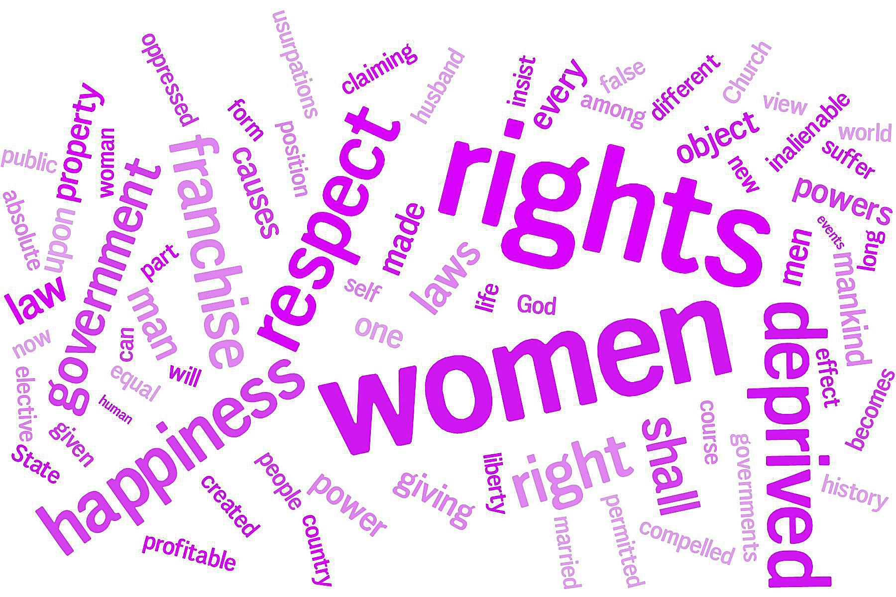 declaration of sentiments and resolutions declaration of sentiments word cloud