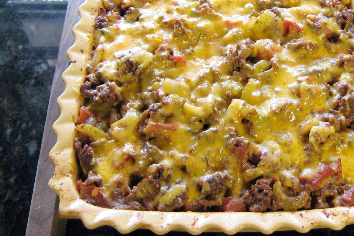 Southwestern Style Beef And Potato Casserole Recipe