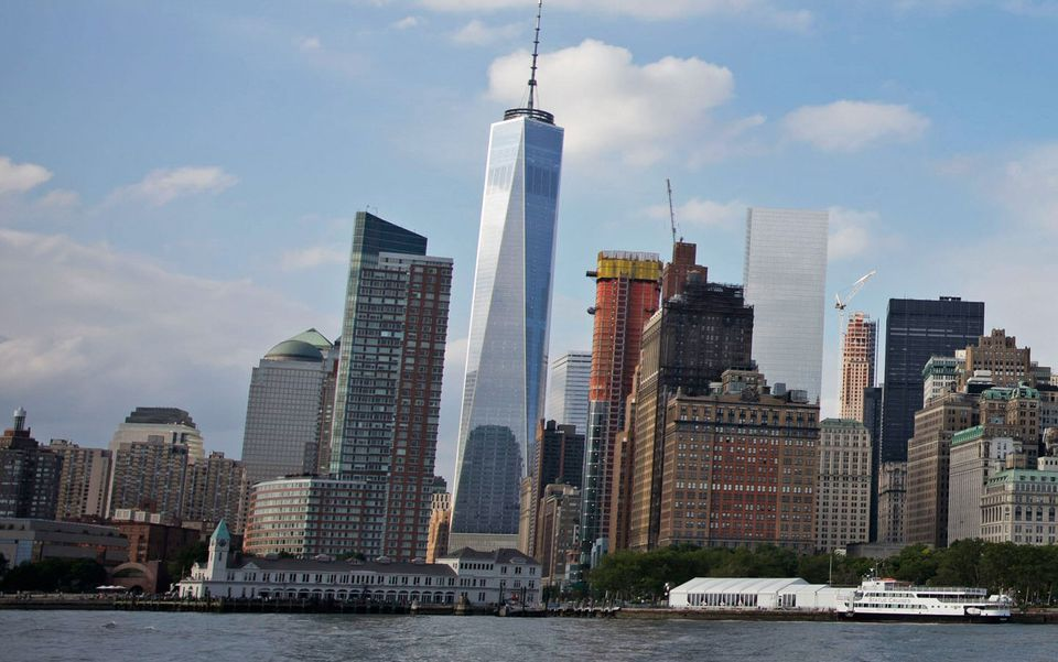 One World Trade Center dominates the Lower Manhattan skyline
