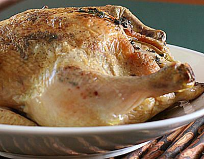 Roast Chicken With Bacon and Sage