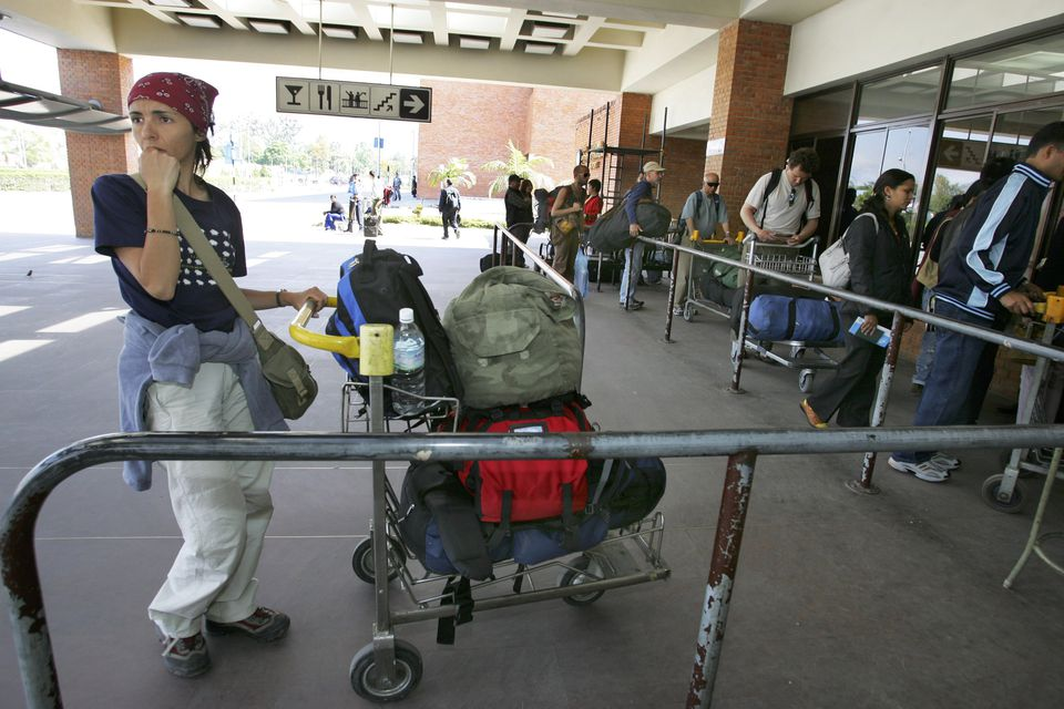 Arriving in Kathmandu Airport