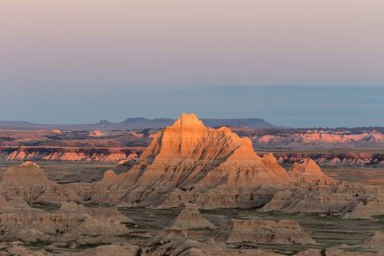 View of Badlands formations