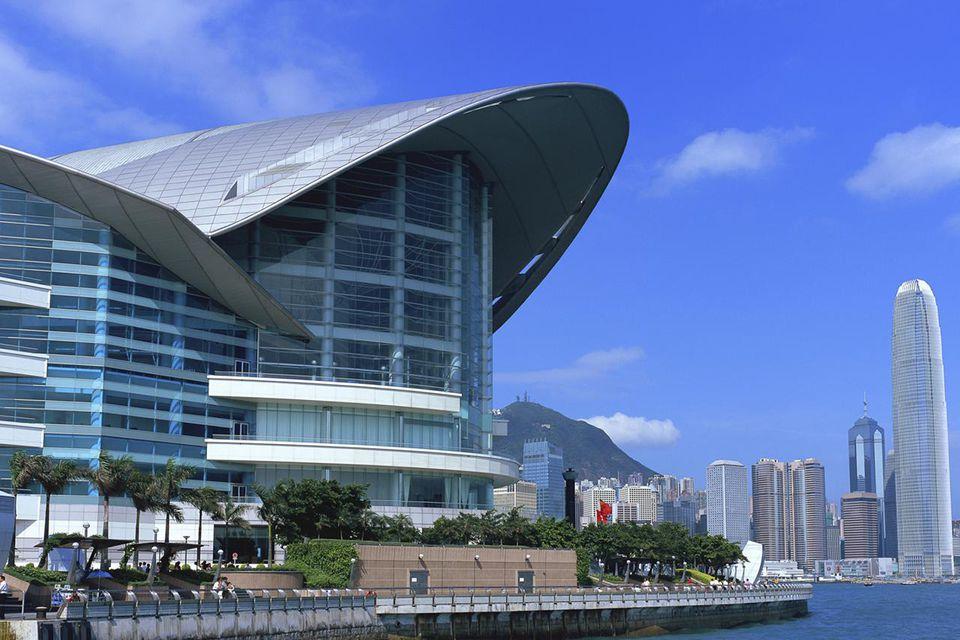 Convention Centre from Wanchai, Hong Kong