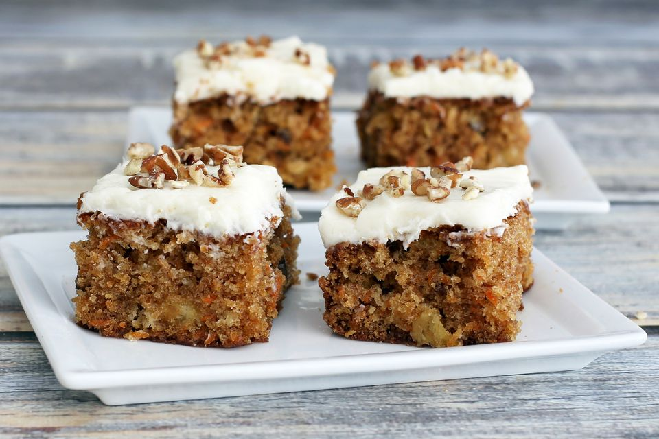 Carrot Cake With Pineapple And Walnuts Recipe