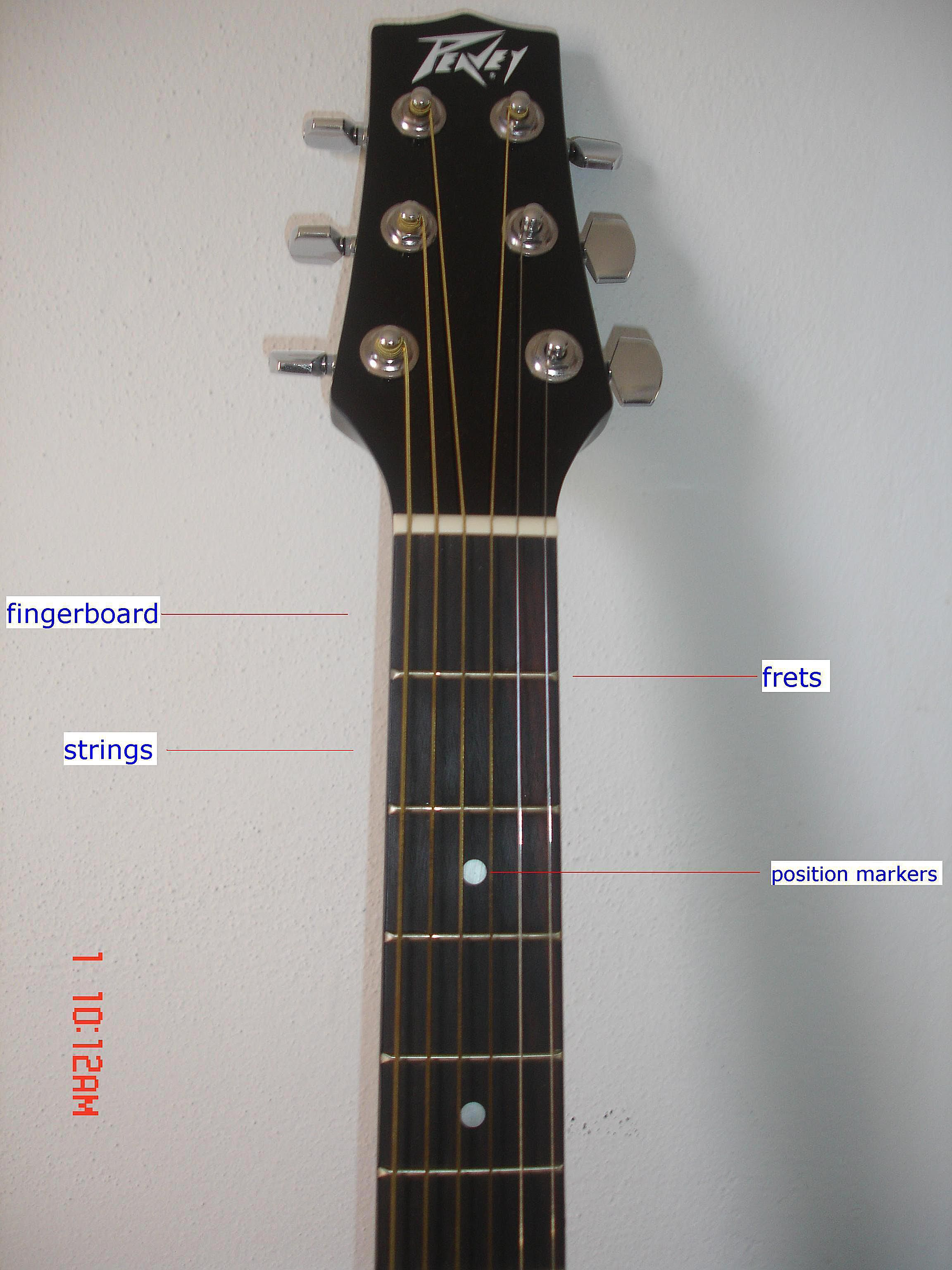 parts of an acoustic guitar photo guide