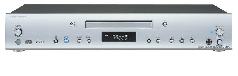 The Onkyo C-S5VL SACD/CD Player front panel.