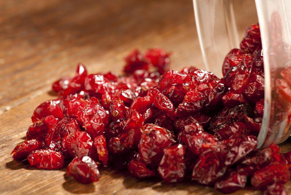 Dry cranberries.