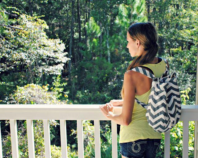 DIY Chevron Backpack