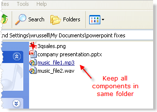 Keep all components for the presentation in the same folder