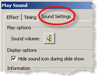 Hide sound icon on PowerPoint slide using Effect Options
