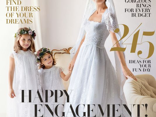 The cover of the January 2018 Brides magazine